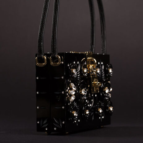 Black floral box - from the runway