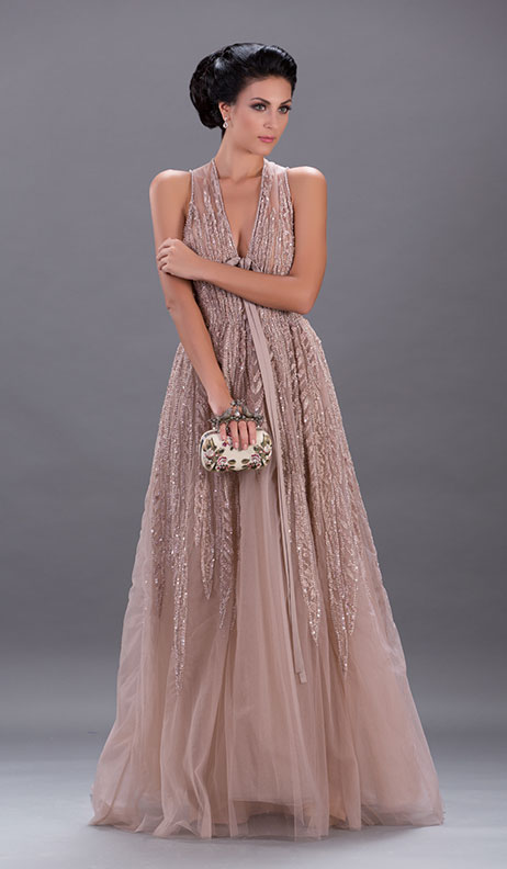 Elie Saab - Bare Skinned Pleats