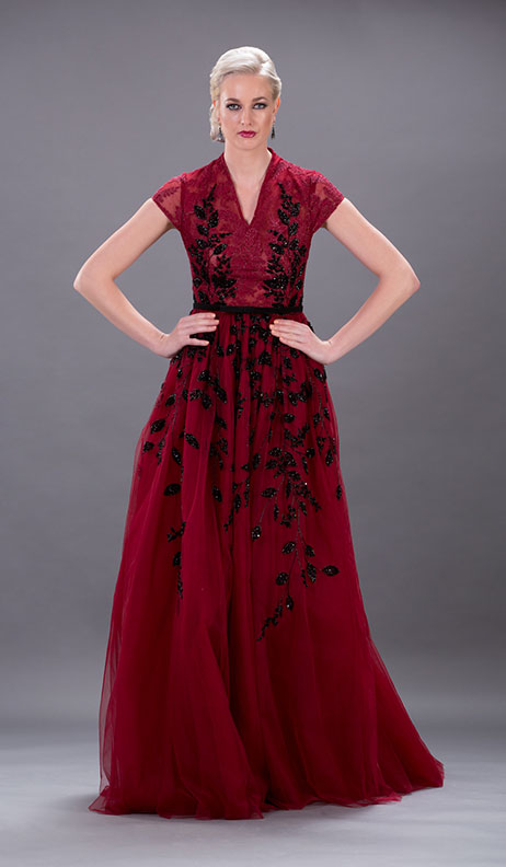 Georges Hobeika - Cherry Cord Lace