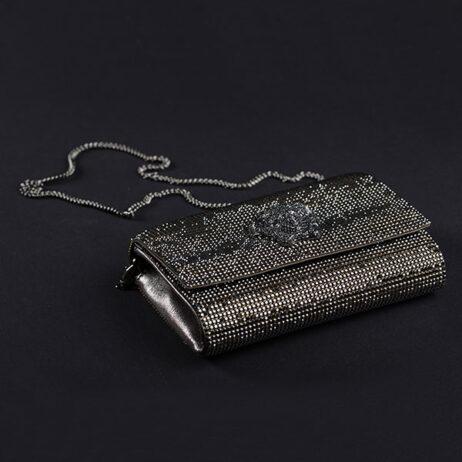 Medusa swarovsky stones in black