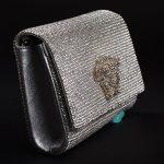 Medusa swarovsky stones in silver